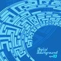 Free Labyrinth Pattern Blue Royalty Free Stock Photography - 31780697