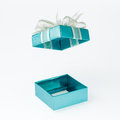 Free Cyan Gift Box Open Cover Royalty Free Stock Photo - 31783985