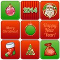 Free Set Of Nine Christmas Retro Cards Royalty Free Stock Image - 31784206