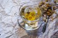 Free A Cup Of Herbal Tea On The Packaging Paper Stock Photo - 31786660