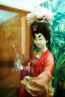 The Woman Silk Figurines Xian Stock Photography