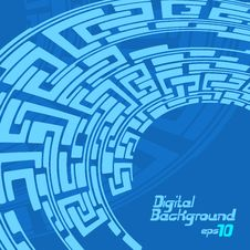 Free Labyrinth Pattern Blue Royalty Free Stock Photography - 31780697