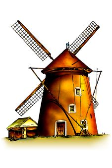Free Windmill Royalty Free Stock Photography - 31787247