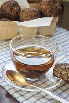 Free Glass Cup Of Tea On An Old Table Royalty Free Stock Photo - 31788145