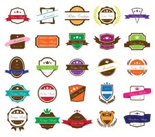 Retro Vintage Badges Stock Photos