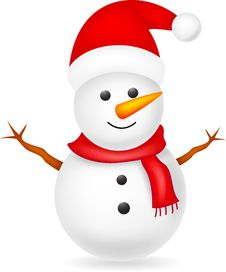 Free Happy Snowman Royalty Free Stock Images - 31792349