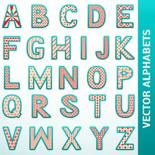 Free Retro Alphabet Letters Stock Photography - 31793722