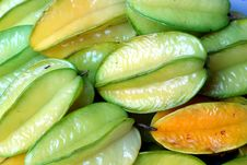 Carambola Or Star Fruit Stock Photography