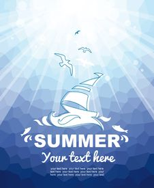 Free Summer Nautical Background Royalty Free Stock Photo - 31795765