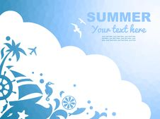 Free Summer Sea Background Royalty Free Stock Photography - 31795777