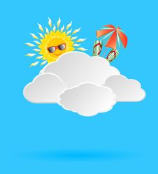 Background With Clouds Lit By The Sun With The Ele Stock Images