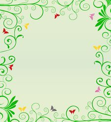 Free Background With Green Vegetation On The Edges And Royalty Free Stock Image - 31796816