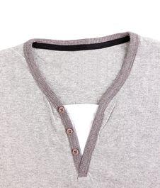 Free Polo Shirt No Collar Close-up. Royalty Free Stock Image - 31797136