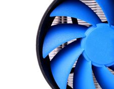 Free Powerful Computer Cooler With Blue Fun Stock Image - 31798091