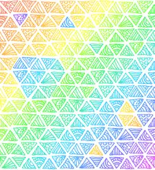 Free Abstract Rainbow Colors Triangles Stock Image - 31798531