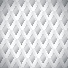 White Geometric Background. Royalty Free Stock Images