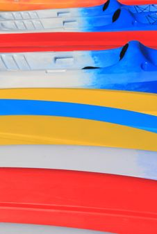 Free Bright Color Of Kayaks On The Beach Royalty Free Stock Image - 31799436