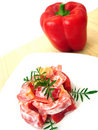 Free Salad With Red Pepper Stock Photos - 3184313