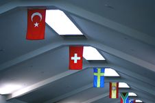 Free Row Of Flags Stock Image - 3180481
