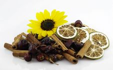 Dried Fruit With Sunflower Royalty Free Stock Image