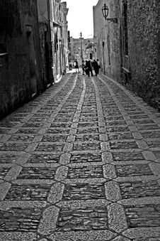 Old Town Eriche In Sicily Stock Image