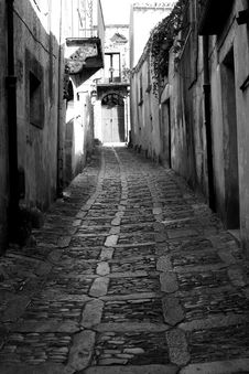 Old Town Eriche In Sicily Stock Images