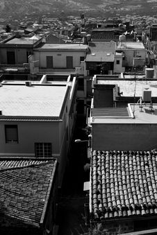 Old Town In Sicily Stock Images