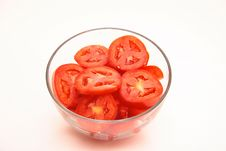 Free Bowl Of Sliced Roma Tomatoes Stock Photography - 3182182