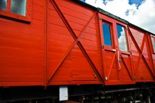 Free Red Railway Carriage Royalty Free Stock Photography - 3182697