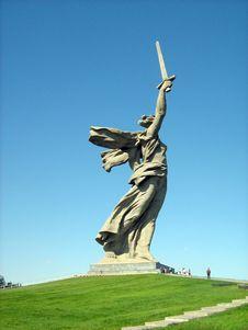 Free Mamaev Burial Mound Royalty Free Stock Image - 3183246