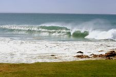 Windblown Waves Royalty Free Stock Photography