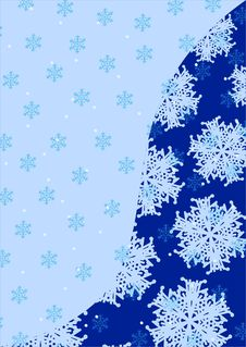 Free Snowflakes Vector Background Royalty Free Stock Photo - 3183395