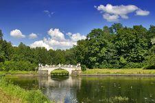 Free Bridge And Small Pond Stock Image - 3183501