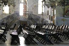 Chairs Nativity Church Stock Image