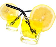 Free Glass With Lemon And Water Royalty Free Stock Images - 3184329