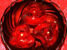 Free Red Heart Candles Stock Photos - 3184343