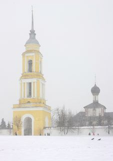 Winter Russian Church. Royalty Free Stock Photography