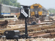Railway Shift Signal Stock Image