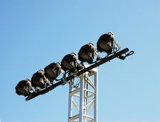 Free Six Spot Lights Stock Photo - 3185490