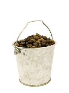Free Coffee Bucket Of Beans Royalty Free Stock Photography - 3187137