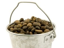 Free Coffee Bucket Of Beans Royalty Free Stock Photos - 3187148