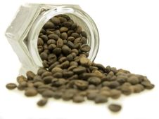 Free Coffee Jar Of Beans Stock Images - 3187724