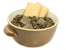 Free Brown Bowl With Coffee Beans, Stock Photo - 3187990