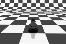 Free Black Pawn Royalty Free Stock Image - 3188966