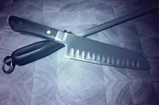 Kitchen Knife Stock Photo