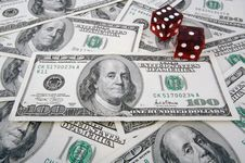 Stack Of Hundred Dollar Bills Stock Photo