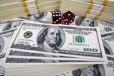 Free Stacks Of Hundred Dollar Bills Royalty Free Stock Images - 3189959