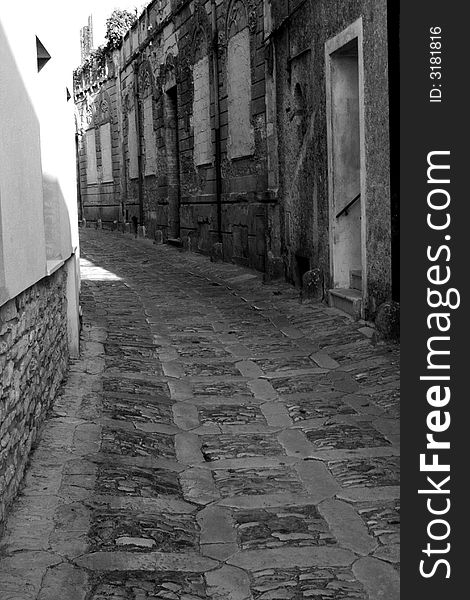 Old town Eriche in Sicily
