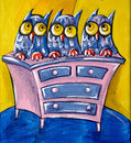 Free Three Owls On A Chest Of Drawers Stock Photo - 31801870