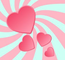 Free Pink Paper Hearts Background. Royalty Free Stock Image - 31802346